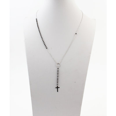 "Necklace ""Baco"" silver / black"