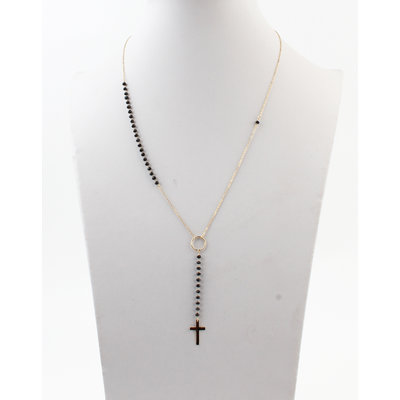 """Necklace """"Baco"""" gold / black"""