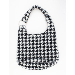 "Shoulder bag ""Mutata"" black / white"