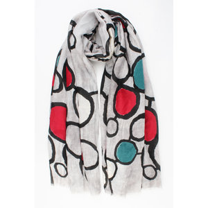 "Scarf ""Tulcan"" gray / red"