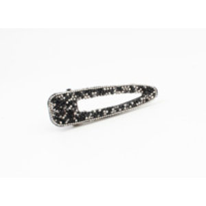 "Hair slide ""Chura"" black, per 2pcs."