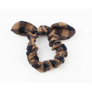 "Scrunchie ""Ancora"" brown, per 3pcs."