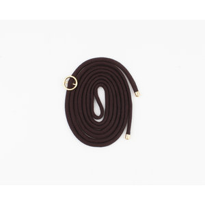"Cord for phone case """" dark brown, per 3 pieces."