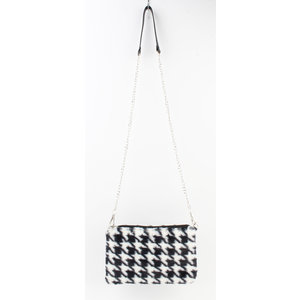 "Crossbody bag ""Caos"" black / white"