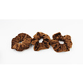 "Scrunchie ""Toca"" rust, per 3pcs."