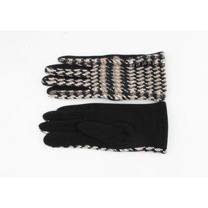"""Handschoenen """"Patay"""" zwart/bruin"""