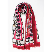 """Scarf """"Chinchao"""" pink"""