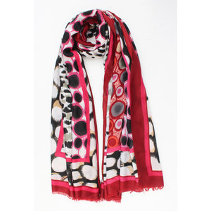 "Scarf ""Chinchao"" pink"