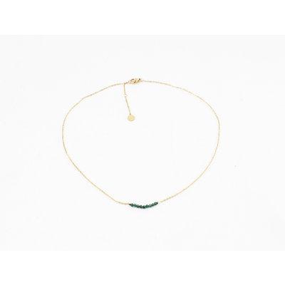 "Halskette ""Zaza"" gold / grün"