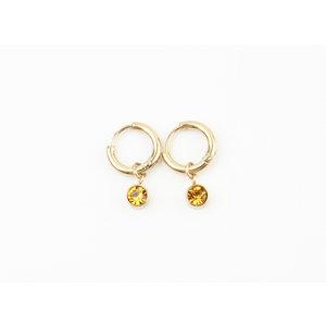 "Earring ""Mosa"" gold / topaz"