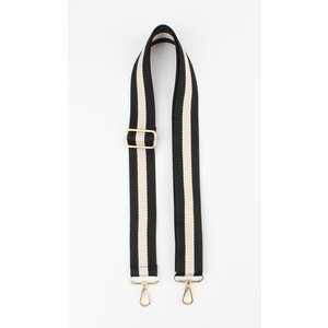 "Carrying strap for bags ""Chaque"" black / cream"