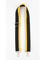 "Carrying strap for bags ""Chaque"" black / ocher yellow"