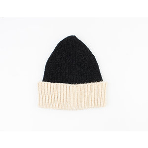 "Beanie ""Poyeni"" black / cream"