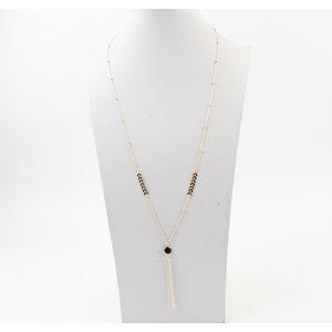 """Halskette """"Layo"""" gold / schwarz"""