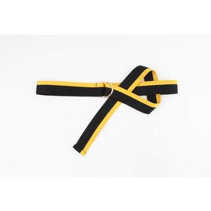 """Belt """"Casia"""" black / ocher yellow"""