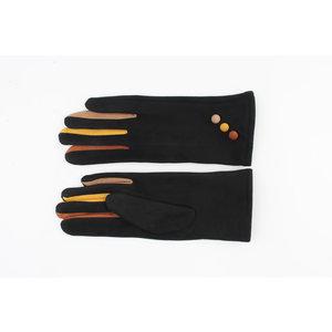 """Gloves """"Delina"""" black / multi"""