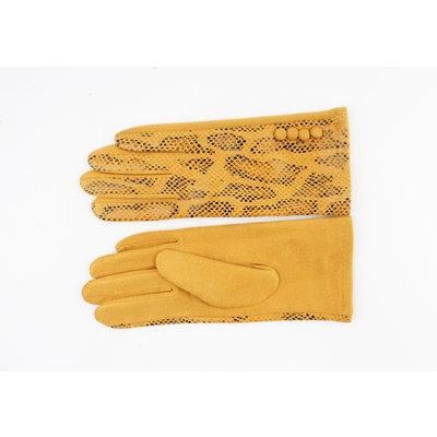 "Handschuhe ""Salado"" ockergelb"