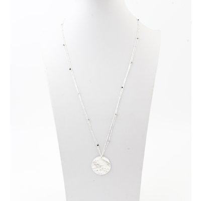 "Necklace ""Chivay"" silver / black"