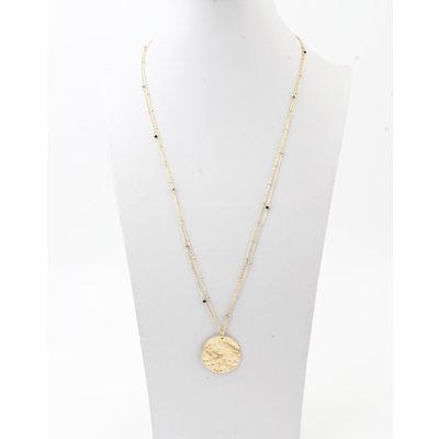 """Halskette """"Chivay"""" gold / schwarz"""