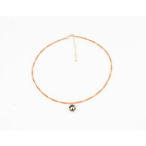 """Necklace """"Chala"""" orange"""