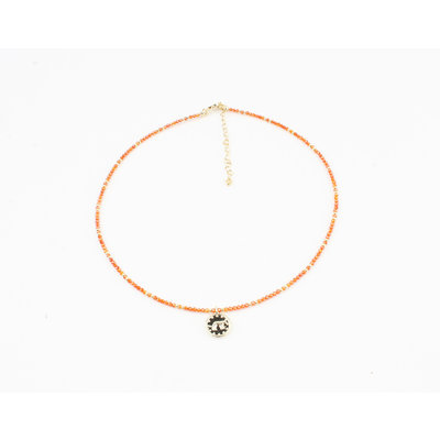 "Halskette ""Chala"" orange"