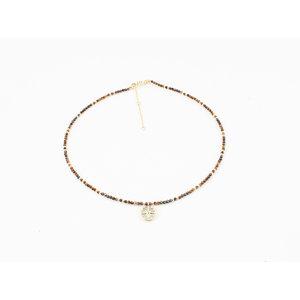 """Necklace """"Caldera"""" brown"""