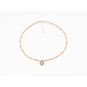 "Necklace ""Caldera"" orange"