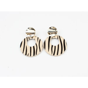 "Earring ""Itiza"" zebra"