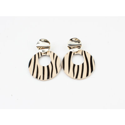 "Ohrring ""Itiza"" zebra"