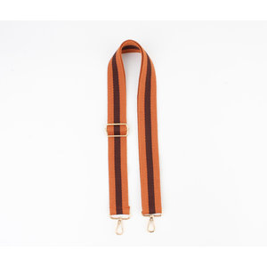 "Carrying strap for bags ""Chaque"" rust / brown"