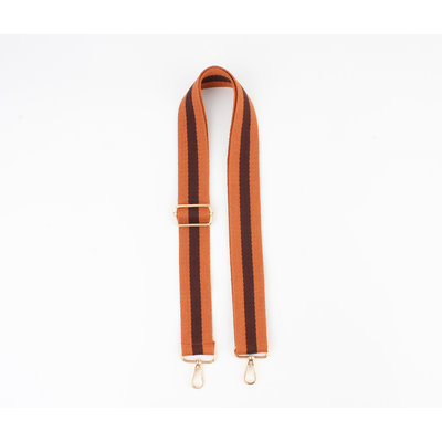 """Carrying strap for bags """"Chaque"""" rust / brown"""