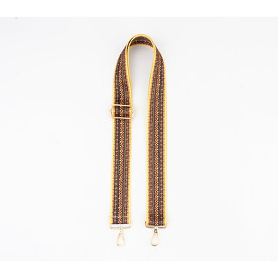 """Carrying strap for bags """"Chaque"""" rust / ocher"""