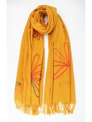 """Scarf """"Quisa"""" ocher yellow"""