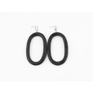 "Earring ""Yura"" black / silver"