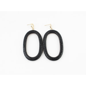"Earring ""Yura"" black / gold"