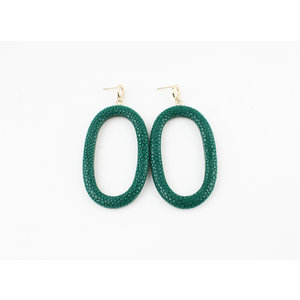"Earring ""Yura"" green"