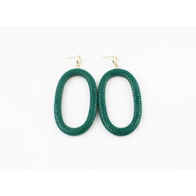 """Earring """"Yura"""" green"""