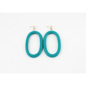 """Earring """"Yura"""" turquoise"""
