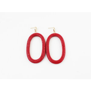 "Earring ""Yura"" red"