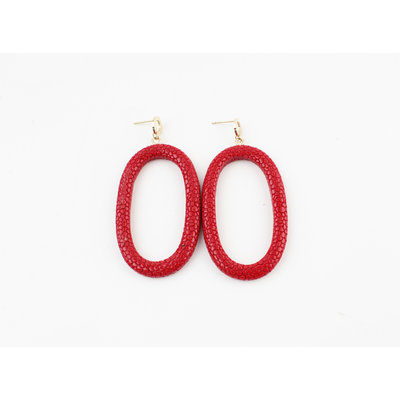 "Earring ""Yura"" red"
