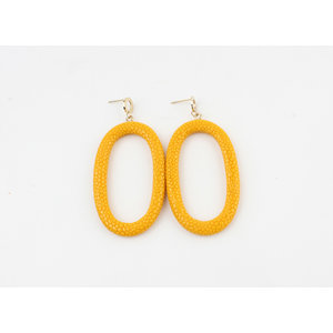"Earring ""Yura"" ocher yellow"
