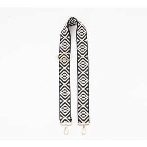 "Carrying strap for bags ""Bija"" black / white"