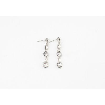 """Earring """"Castilla"""" silver / crystal"""