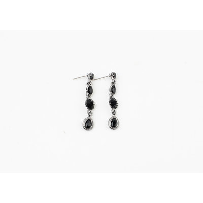 """Earring """"Castilla"""" silver / onyx"""