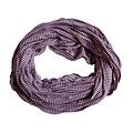 Jersey scarf loop purple striped 413828