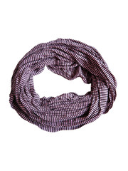 Jersey scarf loop purple striped 413828