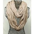 Jersey scarf loop light brown striped 413828