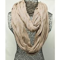 Jersey sjaal loop licht bruin gestreept 413828