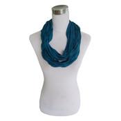 Jersey scarf loop blue striped 413828