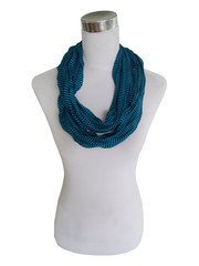 Jersey scarf loop blue striped 413828